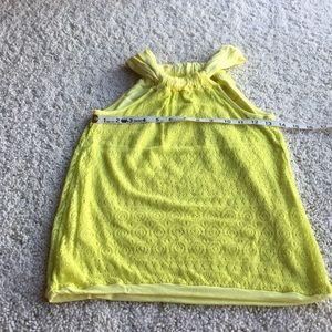 Ella Moss Halter Top.    Yellow.     Size XS